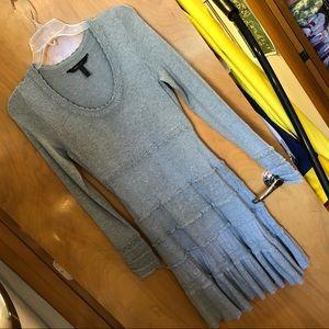 BCBG light gray sweater dress, size S